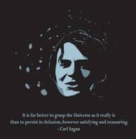 Carl Sagan by katie-ryn