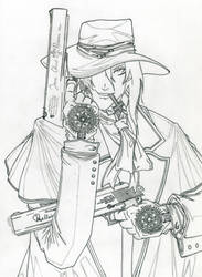 Alucard - Pencil and Lineart by Andrex91