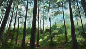speedpaint practice: forest by Aleana