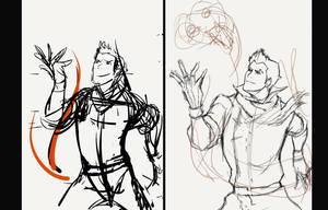 How I sketch... by Aleana