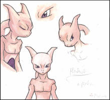Mewtwo: Style- Color Sheet by PsyLady