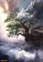 The green Oak by Lucy-Lisett