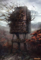 The log-hut on the chicken legs by Lucy-Lisett