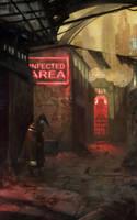 Pathologic fanart.Cyberpunk in the town-on-Gorkhon by Lucy-Lisett