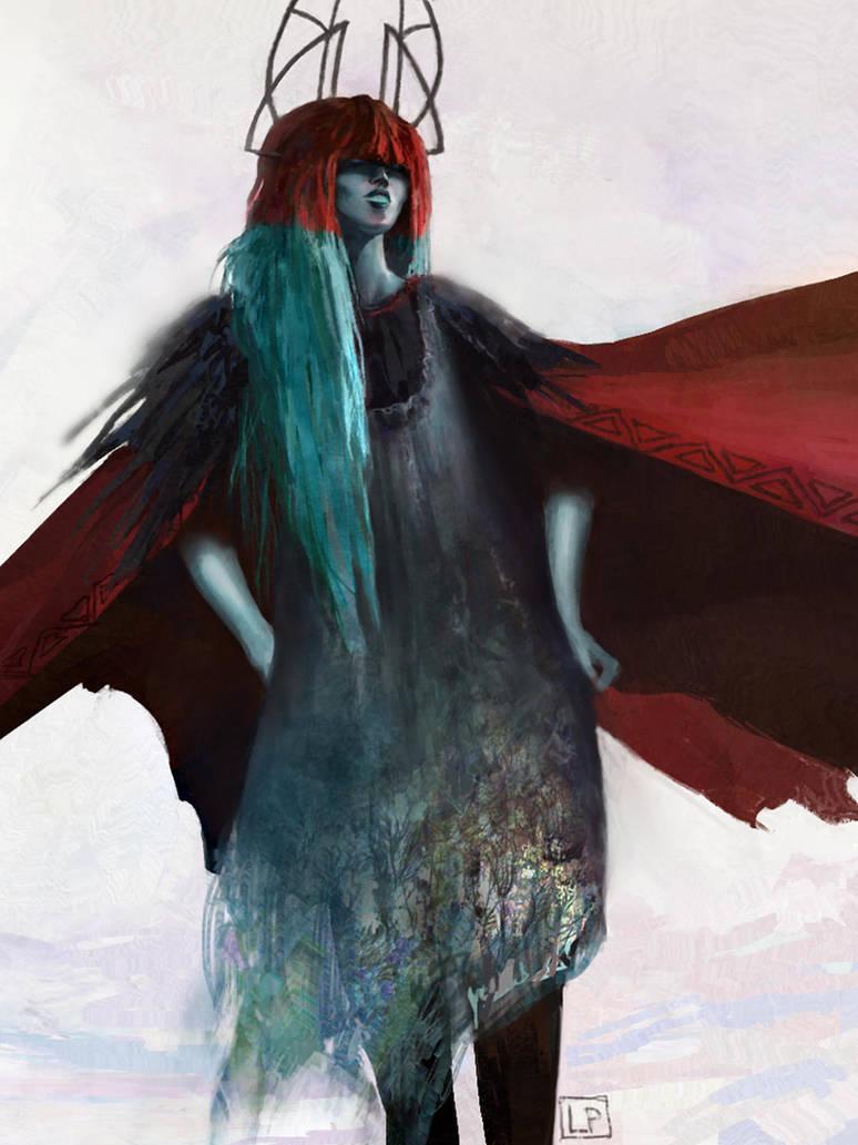 Cyan princess by Lucy-Lisett
