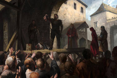 The overthrow (concept-art for Reign of Guilds) by Lucy-Lisett