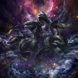 Celestial Eels by Lucy-Lisett