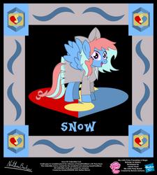 Snow OC Collectible Card by StryKariSPEEDER