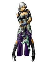 cyberpunk character by wieselmeyer