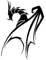 Tribal dragon by LunaNera