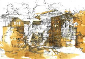 Old wooden architecture near Warsaw by Nadiasajjad