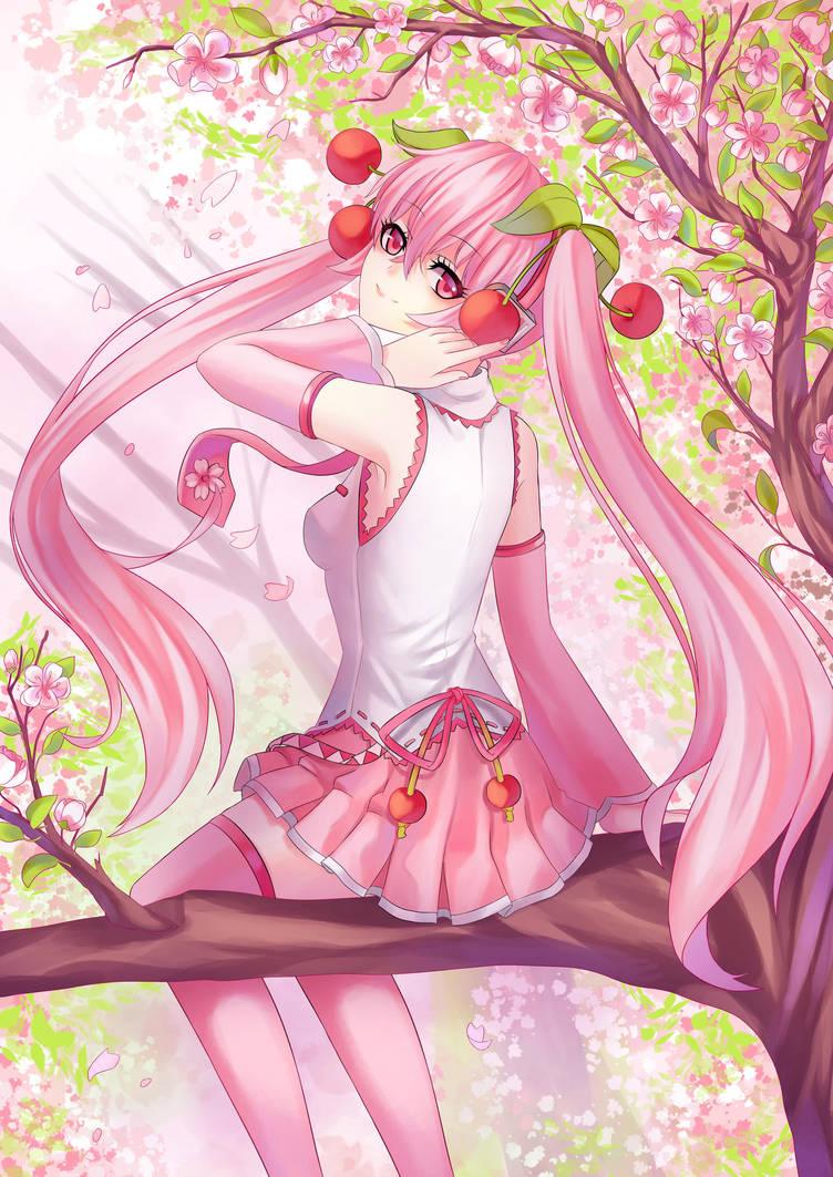 .:Sakura Miku:. by yoneyu
