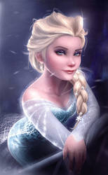 Elsa (Disney's Frozen) Ice-olated by Carlo-Marcelo