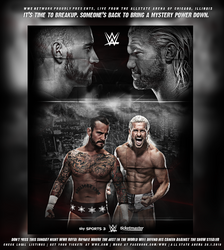 CM Punk vs Dolph Ziggler, Royal Rumble 2018 by GherdezGFX