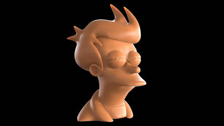 Futurama Fry ('Not sure if' meme) bust by romanpapush