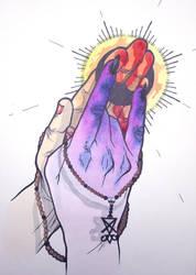satanic prayer by giantflyingTURD