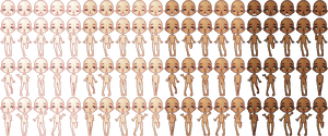 Bonbon Pixel Doll Base by BlueCandyCane