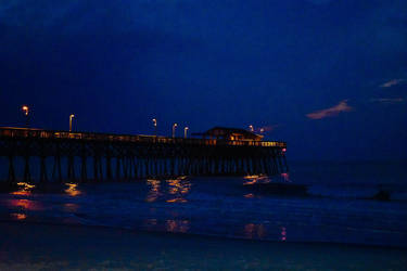 Nighttime At The Garden City Pier by baquar