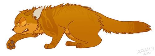 Lionblaze The Strong -Warriors- by PikaPlatinum