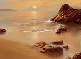 sunset by Denewer