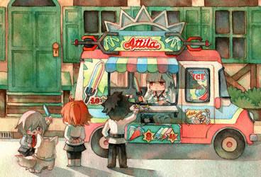 Attila's ice cream by Pearlgraygallery