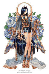 GEMINA : No.22 Black opal by Pearlgraygallery