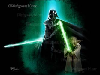 Star Wars - Vador and Yoda by Mackain