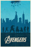 The Avengers movie poster by billpyle