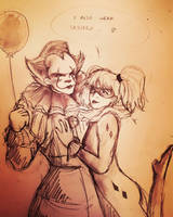 Pennywise X Harley by Tamagi