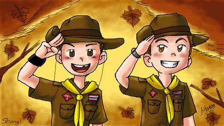 P-Chat: Autumn Boy Scouts by MarioRoz