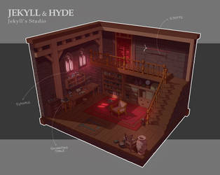 Jekyll and Hyde Studio - Environment Concept by EMREPO