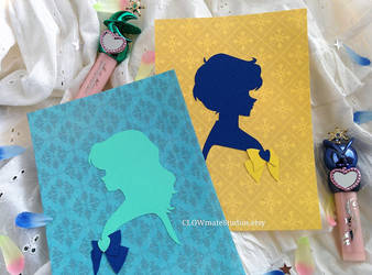 Sailor Uranus and Sailor Neptune set of two by hip2b2