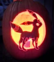 Umbreon Pumpkin by Batnamz