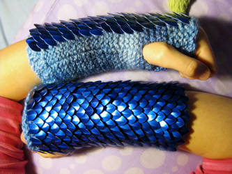 Gloves of Metallic Ocean by CraftyMutt