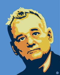 Vector Portrait of Bill Murray by Jonnyetc