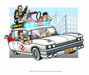 Ghostbusters - Cleanin' Up the Town! by Jonnyetc