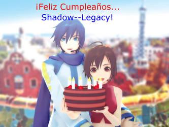 Happy Birthday in Barcelona, Shadow--Legacy!! by ConceptScion