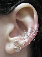 Scribble Ear Cuff by lavadragon