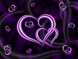 Purple Hearts Wallpaper by lavadragon
