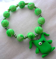 Ugly Green Monster Bracelet by lavadragon