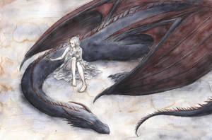 Daenerys and Drogon by ejbeachy