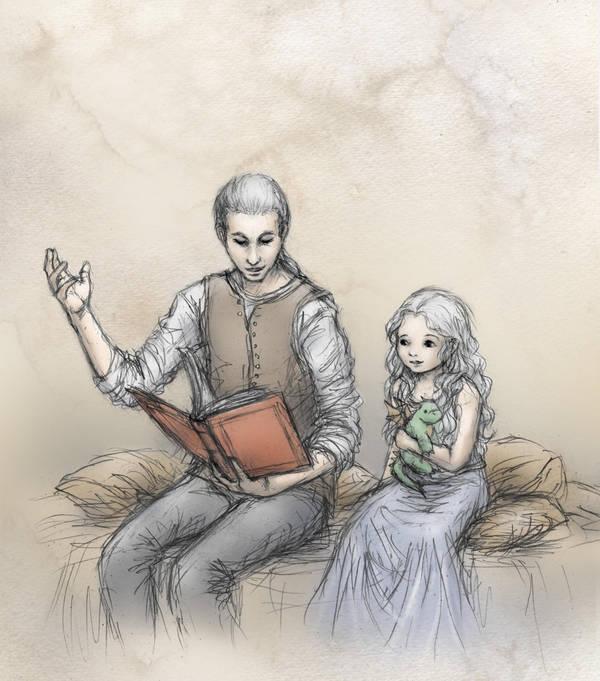 Daenerys and Viserys by ejbeachy