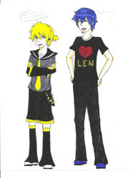 Len and Kaito.. by dhamphir363