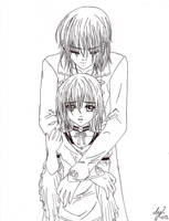 Siblings, Yuki and Kaname by KoyukitoriGirl