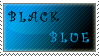 Black and blue - stamp by CuteReaper