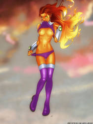 Starfire Is Hot by JapesArcher