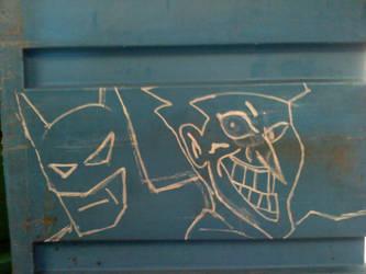 Batman and Joker by Hoebox