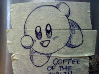 Kirby is the Coffee of the Day! by Hoebox