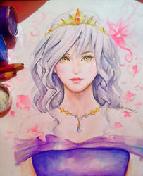 Silver Haired Lady by TheVioletEuphonia