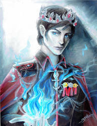 King Maven Calore (Red Queen series) by TheVioletEuphonia